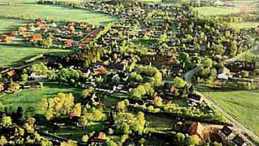 Alte Luftaufnahme Stadum