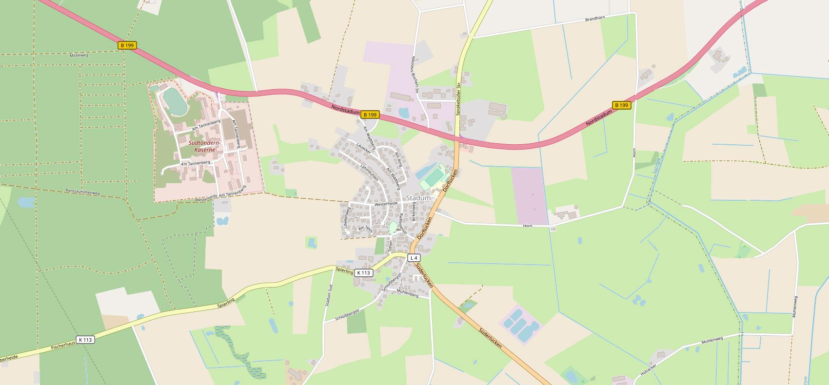 Karte Stadum