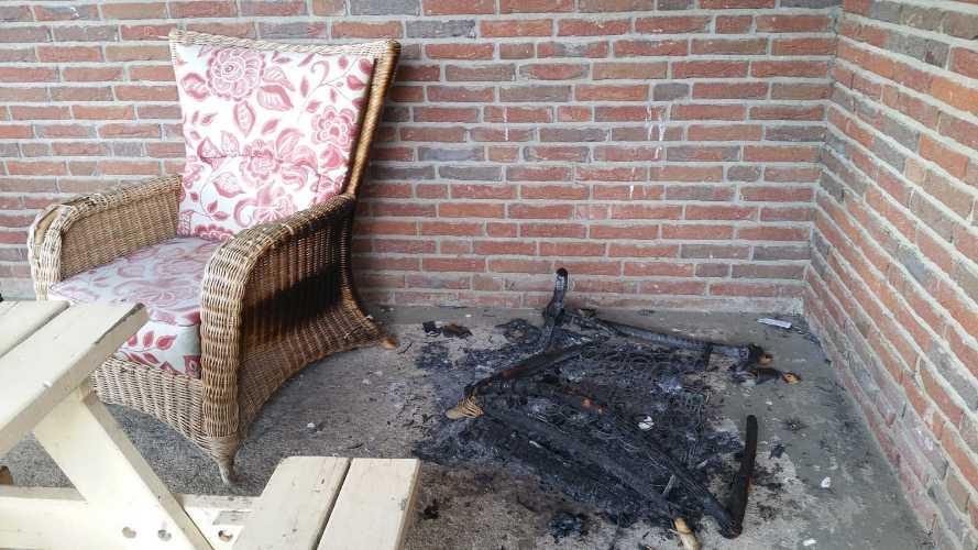 Verbranter Stuhl